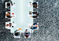Business Team Board Room Meeting Discussion Strategy Concept Royalty Free Stock Image