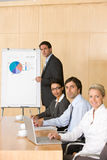 Business team in boardroom. Business team having a meeting in the boardroom Stock Images