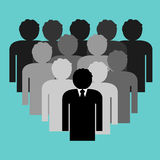 Business team with boss leader Royalty Free Stock Image