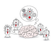 The business team and the brain Stock Images