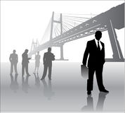Business team with bridge Stock Photos