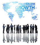 Business Team with Business Growth Concept Stock Photography