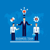 Business team Businessman successful teamwork concept Flat design Stock Image
