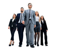 Business team, businesspeople group walking Royalty Free Stock Photos