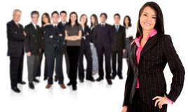 Business team + businesswoman Royalty Free Stock Photography