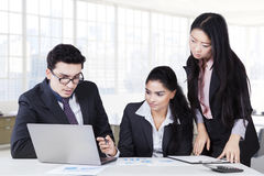 Business team are busy to make plan royalty free stock image
