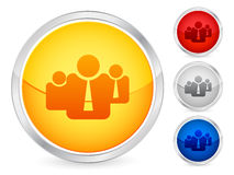 Business team button Stock Images