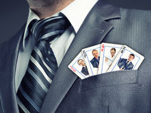 Business team cards Royalty Free Stock Image