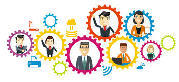 Business team. Cartoon characters. Stock Images