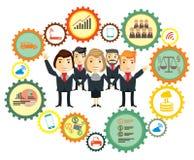 Business team. Cartoon characters Stock Photo