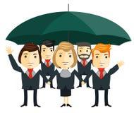 Business team. Cartoon characters Stock Photos