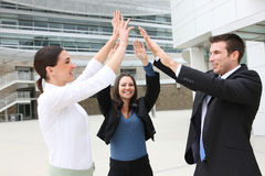 Business Team Celebrating Stock Photography