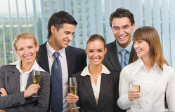 Business team celebrating Stock Photos