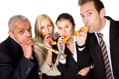 Business team celebrating birthday Royalty Free Stock Photo
