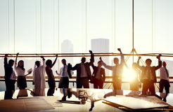 Business Team Celebrating in Board Room royalty free stock image