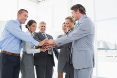 Business team celebrating a good job Stock Photography