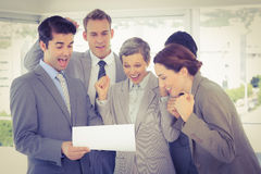 Business team celebrating a new contract Stock Photography