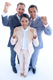 Business team celebrating a success Stock Photo