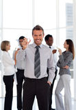 Business Team Celebrating success Stock Photo