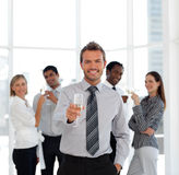 Business Team Celebrating Success Stock Images