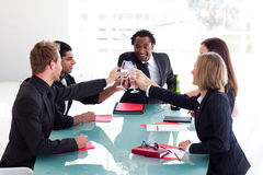 Business team celebrating a success Royalty Free Stock Photos