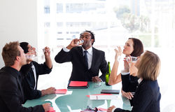 Business team celebrating a success Royalty Free Stock Image