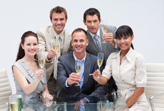 Business team celebrating success with champagne Royalty Free Stock Photography