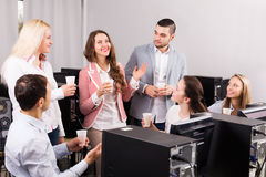 Business team celebrating successful project Royalty Free Stock Photo