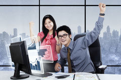 Business team celebrating their success Royalty Free Stock Images