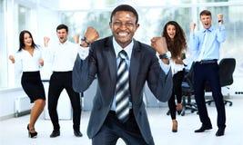 Business team celebrating Royalty Free Stock Photo