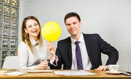 Business team celebrating a triumph Stock Photos