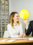 Business team celebrating a triumph Royalty Free Stock Photo