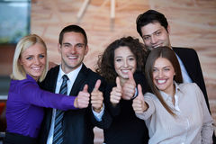Business team celebrating Royalty Free Stock Photo