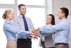 Business team celebrating victory in office Stock Photography