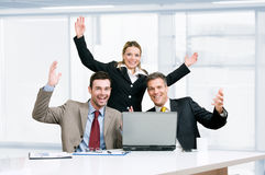 Business team celebration Stock Photo