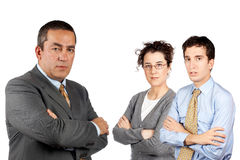 Business team with CEO Stock Image