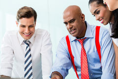 Business team with CEO in meeting Stock Image