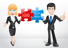 Business team - character  Royalty Free Stock Photo