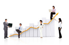 Business team with a chart Stock Photos