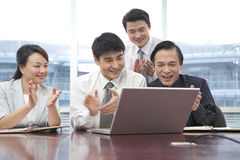 Business Team Cheering Stock Photography