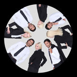 Business-team within circle Royalty Free Stock Photo