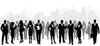 Business team on city background Royalty Free Stock Image