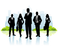 Business team on city background Stock Photography