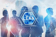 Business team in city, LEAN global interface stock photos