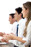 Business team clapping Stock Image