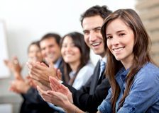 Business team clapping Royalty Free Stock Photos