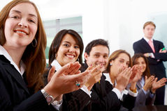 Business team clapping Stock Photos