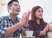 Business team clapping applaud for successful presentation. Business team is clapping applaud for successful presentation Royalty Free Stock Photos