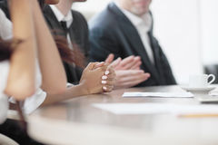 Business team clapping in applause Royalty Free Stock Photos