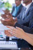 Business team clapping Royalty Free Stock Photography
